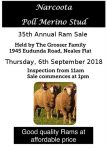 35th Narcoota RAM Sales Flier 6th Sept 2018