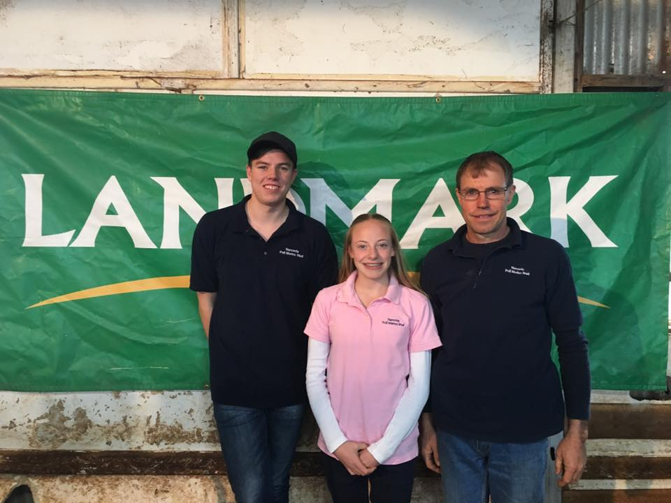 Daniel, Nikki, Tim Grosser of Narcoota Poll Merino Stud at their 2016 Ram Sale